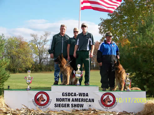 Uran wins at 2008 North American Sieger Show Veteran's.